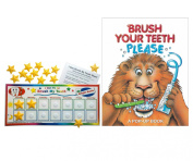 Kenson Kids I Can Do It Brush My Teeth Reward Chart with Brush Your Teeth, Please Book