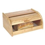 Necessities Brand Wooden Bread Bin 27cm x 40cm x 18cm