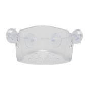 Necessities Brand Corner Shower Caddy Plastic Suction