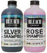 (2 PACK) Bleach London Silver Shampoo 250ml & Bleach London Rose Shampoo 250ml