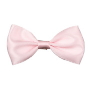 Dressyday One pair Girls Baby Satin Solid Hair Bow Clips Headbands Barrettes