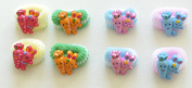 Fashion Cartoon Childrens Mini Elastic Hair Ties Band Ponytail And Cutey Snap Hair Clips (cute and colourful bears ,rabbits and carrot buddies).