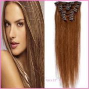 Sexyqueenhair Remy Human Virgin Hair Straight Full Head Clips in Hair Extensions 60cm 7pcs per Set Colour #6