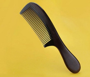 DoubleVillages ox horn tooth and ebony body comb H-1