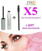 5 X FEG Eyelash enhancer. The most powerful eyelash growth Serum 100% Natural. Promote rapid growth of eyelashes. 100% Original with Anti-Fake sticker!!!