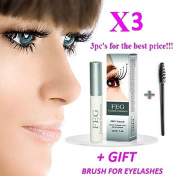 3 X BEST Eyelash Growth Product and Eyebrow Thickener. Most Effective Growth Serum with Conditioner used to LENGTHEN & THICKEN Eyelashes and Eyebrows; FEG is a Powerful Stimulator Treatment that Prevents Thinning & Breakage; Helps Promote Vitality & St ..