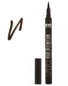 NYC High Definition Liquid Eyeliner 896 Deep Brown ~ Dark Brown Felt Tip Eye Liner Pen Sealed