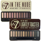 W7 In The Buff Lightly Toasted & In The Nude Eye Shadow Palette Set