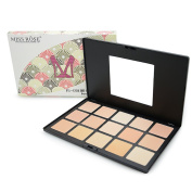 Miss Rose 15 Colours Pressed Powder Palette Nude Camouflage Concealer Foundation Face Makeup Cosmetics