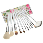 Hailicare Maquillaje Maquillage 12 Super Soft Makeup Brushes Pearl Handle Beauty Tool Set Girls Must