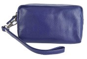 PRIMEHIDE Leather Cosmetic Make- up Jewellery Clutch Wristlet Case Bag 703