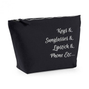 Keys And Sunglasses And Lipstick And Phone Etc.... Everything In My Bag Statement Canvas MakeUpBag Gift Case Cosmetic Clutch