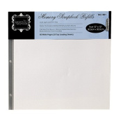 Grants Scrapbook Album Refill Pages White 12 x 12 50pk