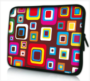 17-17,3 (inch) LAPTOP SLEEVE CARRY CASE POUCH BAG NEOPRENE FOR NOTEBOOKS/LAPTOPS ZIPPED *RED SQUARES*