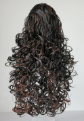 Funky Hair Company Bouncy Curls Reversible Hair Ponytail Extension Black Copper Tango - Rich Black with Copper Lights