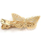 Sanwood Golden Butterfly Hair Clip Hair Accessories Headpiece
