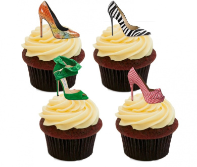 Edible Cake Decorations Nz : Designer Shoes Edible Cake Decorations - Stand-up Wafer ...