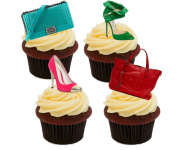 Shoes and Handbags, Edible Cake Decorations - Stand-up Wafer Cupcake Toppers