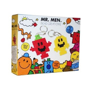 MR MEN CREATIVE BEAD CREATIONS HAMA BEADS KEYRINGS CHAINS MAKING KIT CRAFTS NEW
