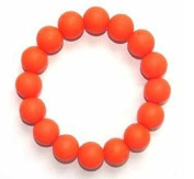 Chuchumz Chewy Bracelet Chewelry Autism ADHD Biting Sensory Child Baby Teething Chew Toy Children Orange