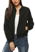 Zeagoo Womens Classic Quilted Jacket Short Padded Bomber Jacket Coat