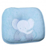 Newborn Baby Anti-roll Pillow Prevent Flat Head Pillow Blue Elephent