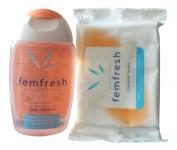 Femfresh Soap Free Women Intimate Hygiene 150Ml   Femfresh 15 Feminine Wipes   Lightly Fragranced   Dermatologically & Gynaecologically Tested For Everyday Use.