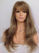 Kims Wigs Light Brown/Blonde mIx Long Soft Layered Heat Resistant Ladies Womens wig #18T22