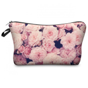 Mens Ladies Toiletry Bag Vanity case, make up, purse, pencil case, phone handbag, jewellery pouch NEW! Vintage Roses Pink