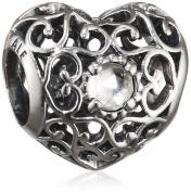 Pandora 791784RC April Signature Heart Birthstone Charm - 2015