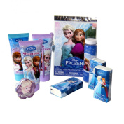 Frozen Beauty In The Bath Gift Set, Complete Elsa and Ana Ensemble Shampoo, Tattoos, Magic Washcloth, Lotion, Bubbles, Body Wash, Tissue