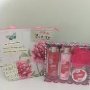 Cherry Blossom Body & Earth Bath & Body Set With Gift Bag Bundle