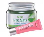 Bioglo Refreshing Aloe Mask Dual Action Hydrates & Exfoliates (100g) FREE Bioglo Cherry Pink