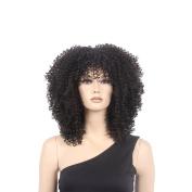 STfantasy 48cm Afro American Medium Black Curly Afro Wig for Black Women