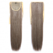 NiCheng Long Straight Strap Ponytails Clip-in Hair Extensions Blend Colour Ladies Synthetic Hairpieces 60cm 90g 21Colors
