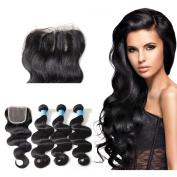 Queen Love Body Wave Virgin Human Hair Weaves Unprocessed Brazilian Virgin Hair With Closure