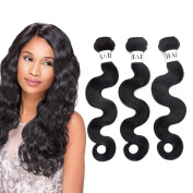 3 Bundles Brazilian Virgin Body Wave Hair Weave 7A Grade 100% Unprocessed Human Hair Weft Extensions Natural Colour 100g/pc Mixed Length