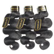 OCEANE HAIR Brazilian Virgin Hair 100% Unprocessed Human Hair Extensions 300g Brazilian Body Wave 3 Bundles Deals Natural Black