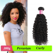 6A Unprocessed Virgin Peruvian Curly Hair 3 Bundles 300grams Full Head,Deep Curly Hair Extensions,Human Sexy Curly Hair Weaves Mix Length 60cm