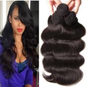 Longqi Hair Top Quality 6a Body Wave Naural Colour Brazilian Hair Bundles Virgin Human Hair Extensions 95-100g/pc