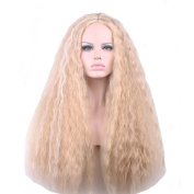 KOLIGHT® Fashion Fluffy Blonde Carve Long Curly Cosplay Hair Wigs Costume Wig-Free Cap+Comb