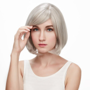 KOLIGHT® Fashion Mix Blonde Short Straight BOB with Bangs Cosplay Hair Wigs Costume Wig-Free Cap+Comb