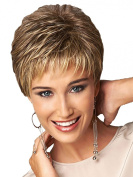 SmartFactory Natural Short Human Hair Wig for Usual Life or Work