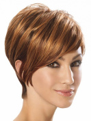 SmartFactory Short Golden Human Hair for Wig Making or Party