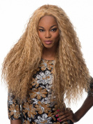 SmartFactory Golden Long Blonde Curls Explosion Synthetic Lace Front Wig for Women