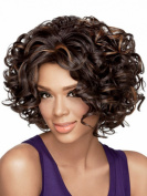 SmartFactory Natural Explosion Bob Curly Custom Human Synthetic Hair Full Lace Wig