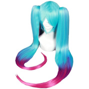 Xcoser Sona Blue Pink Long Cosplay Wig Hair For Cosplay Costume Accessories