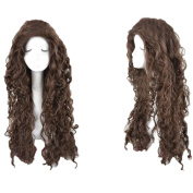Xcoser Bellatrix Lestrange Wig Harry Cosplay Potter Long Brown Curly Wig