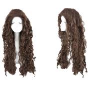 Xcoser Bellatrix Lestrange Wig Harry Cosplay Potter Long Brown Curly Wig