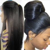 Brazilian Virgin Hair Human Hair Wig Yaki Straight Glueless Human Hair Wigs With Baby Hair Light Yaki Lace Front Human Hair Wigs